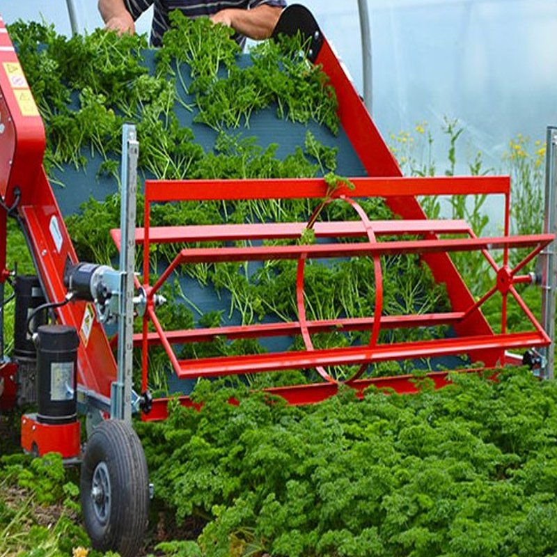 Semi-professional, self-propelled, electric harvester for