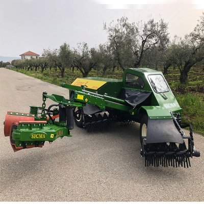 Self-propelled harvester N3 (Enne3) for walnuts, almonds, macademia, pecan