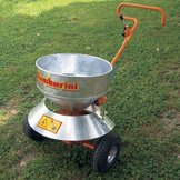 Salt/Sand Spreader with distributor disc and hot dip galvanized limiter, model F80/2000