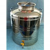 Stainless Screwing Lidded Barrel - 50Lt