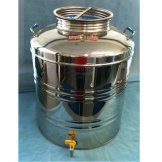 Stainless Screwing Lidded Barrel - 100Lt