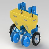 AUTOMATIC 2-ROW POTATO SEEDER FOR SMALL TRACTOR